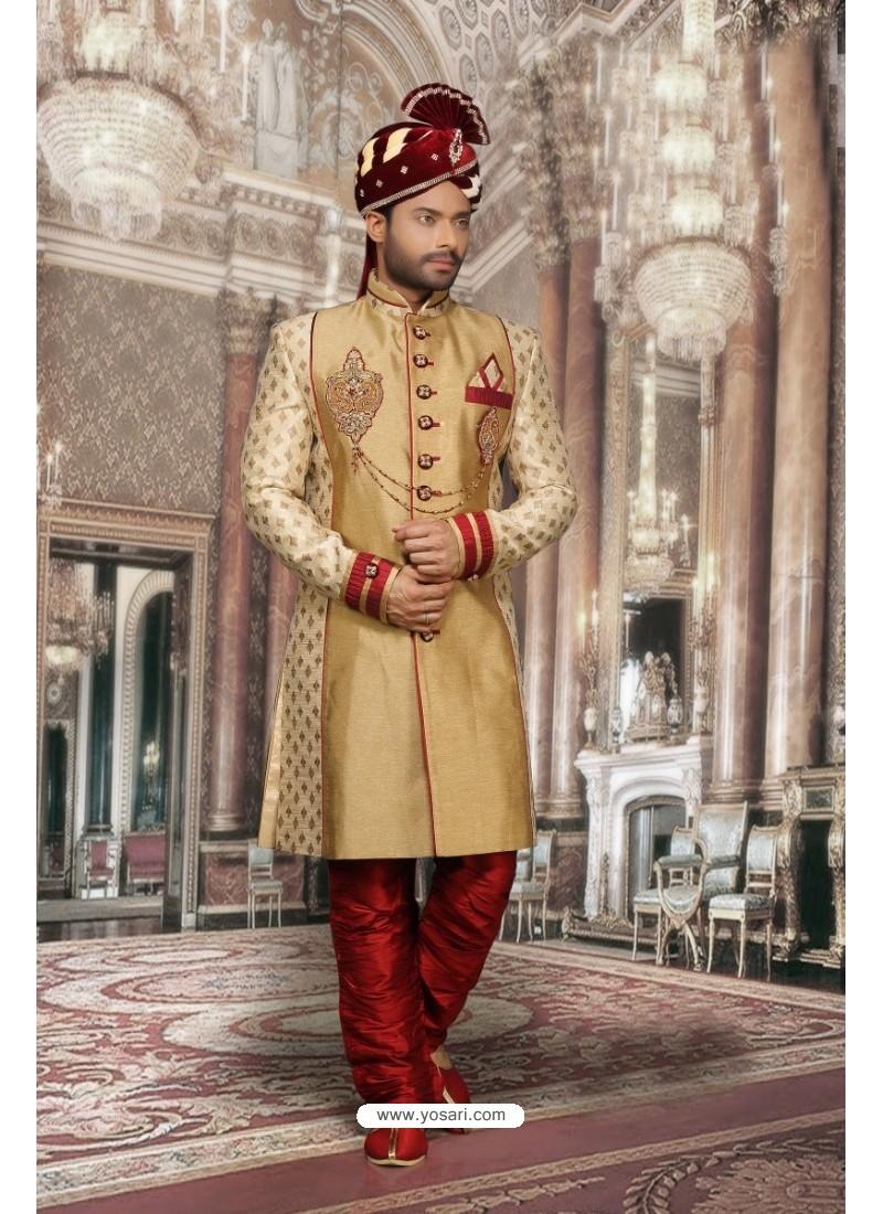 Imperial Beige Jharna Sherwani
