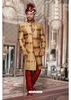 Excellent Golden Sherwani