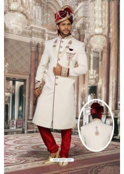 Perfect White Imported Sherwani