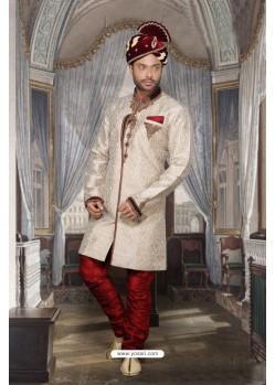 Awesome Off White Imported Sherwani