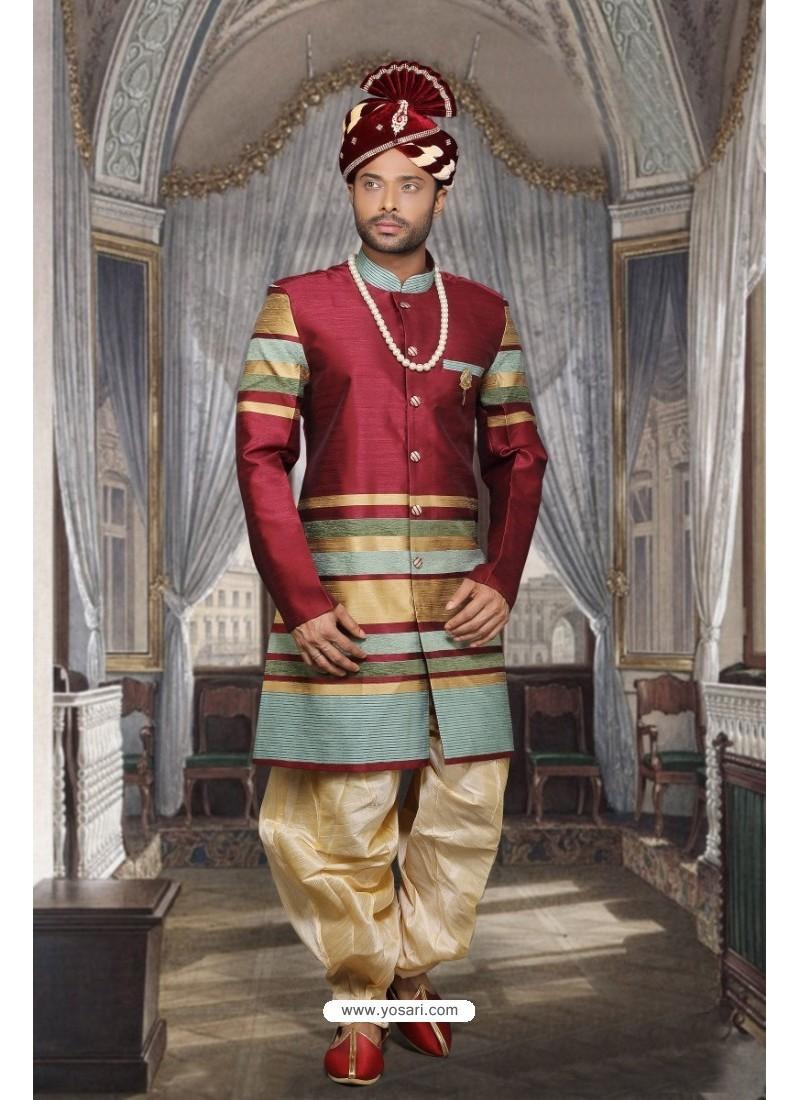 Stylish Multi Colour Sherwani
