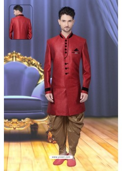 Eye Catching Crimson Sherwani