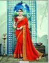 Fabulous Red Dual Tone Silk Saree