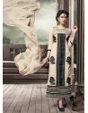 Cream Chanderi Silk Salwar Kameez