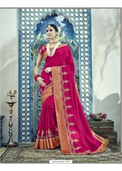 Decent Rani Dual Tone Silk Saree