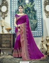 Imperial Purple Dual Tone Silk Saree