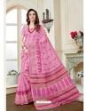 Lovely Pink Cotton Saree