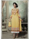 Yellow Chanderi Silk Salwar Kameez