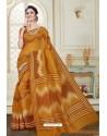 Dazzling Camel Cotton Saree