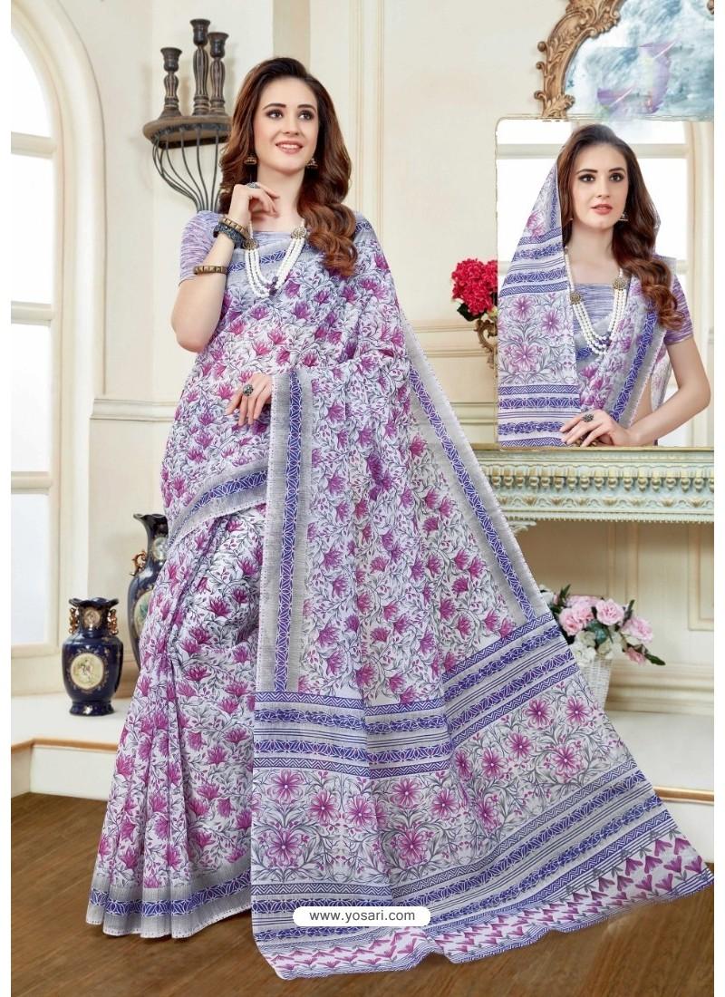 Affectionate Multi Colour Cotton Saree