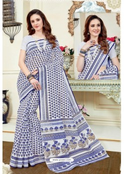 Superb Multi Colour Cotton Saree