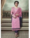 Peach Chanderi Silk Salwar Kameez