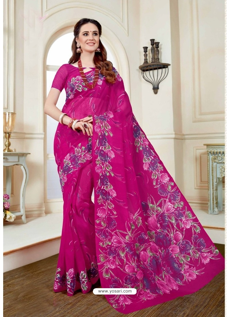 Hot Rani Cotton Saree