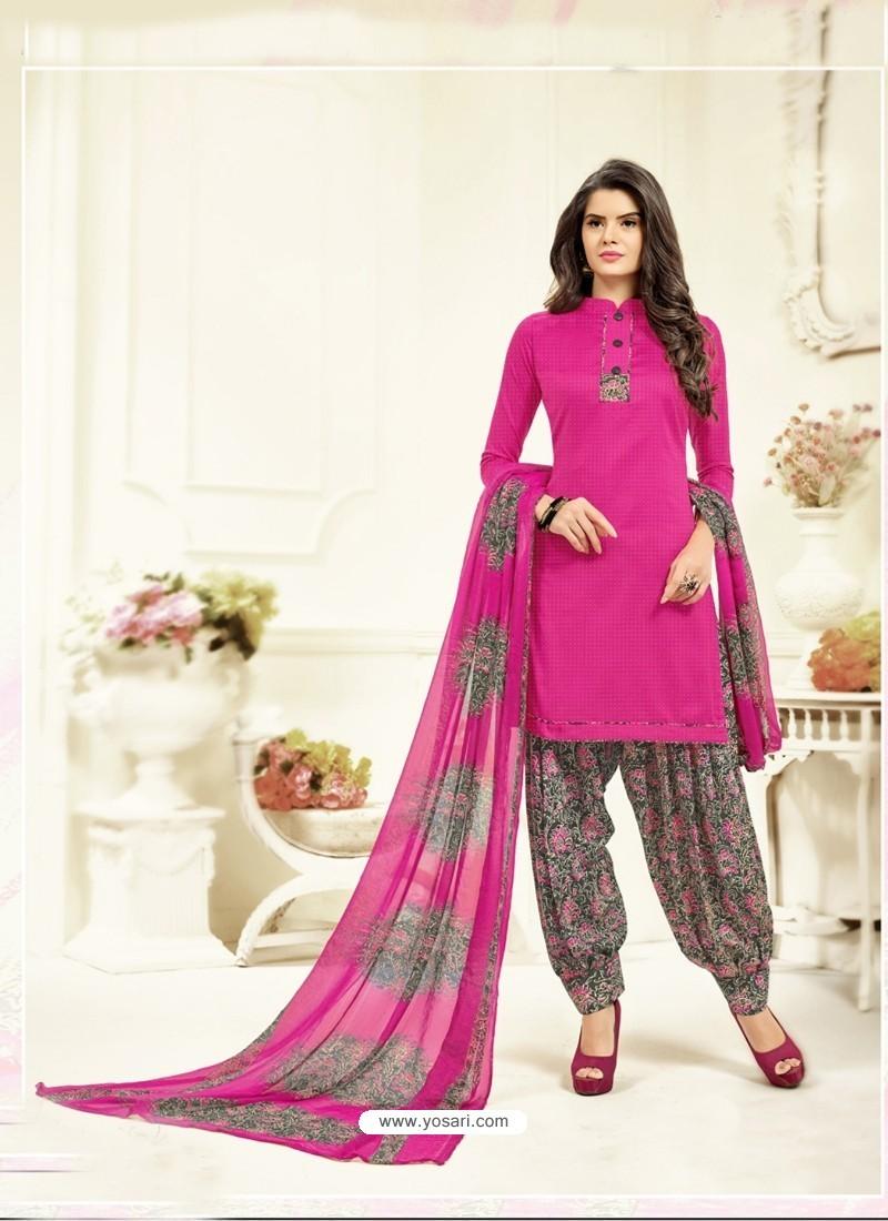 Charming Rani Cotton Printed Suit
