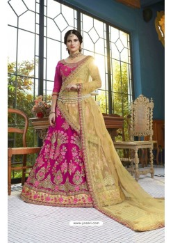Rani Net Embroidered Lehenga Choli
