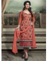 Orange Chanderi Silk Salwar Kameez