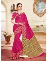 Trendy Fuchsia Cotton Silk Saree