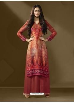 Trendy Multi Colour Printed Palazzo Suit
