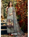 Groovy Grey Crepe Silk Georgette Suit