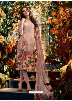 Magnificent Baby Pink Crepe Silk Georgette Suit