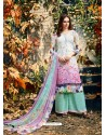 Dazzling Off White Crepe Silk Georgette Suit