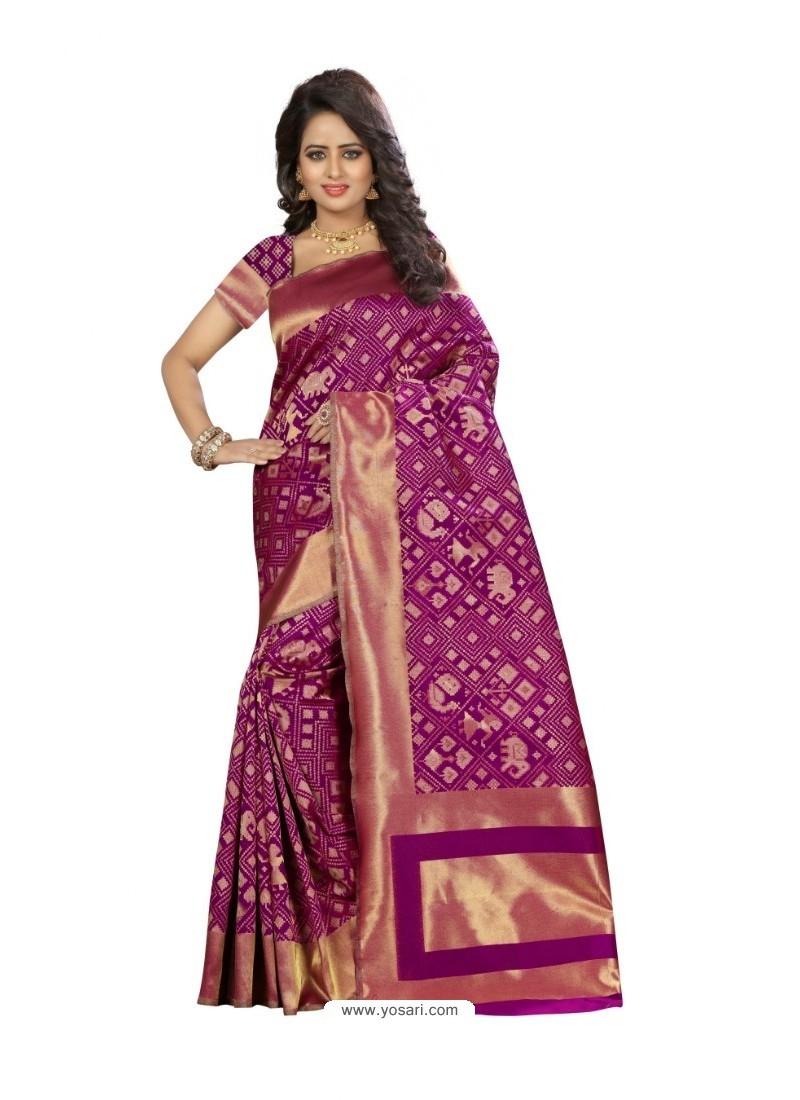 Imperial Purple Kanjivaram Silk Saree