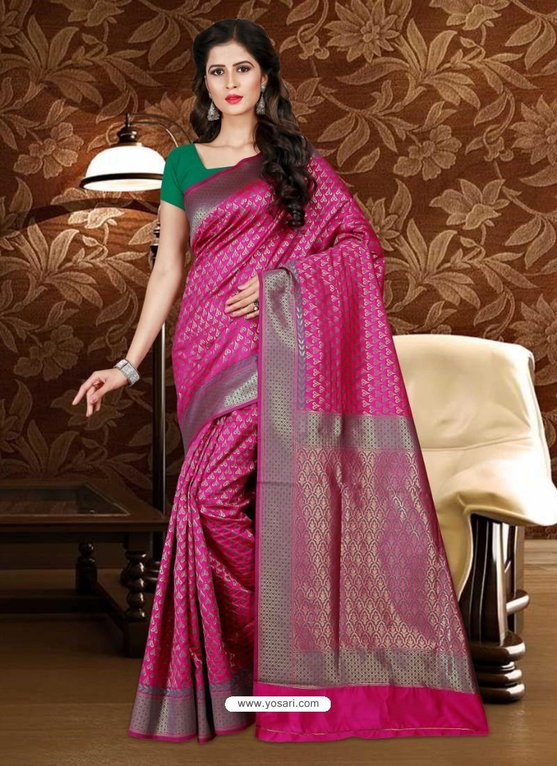 Incredible Rani Patola Silk Saree