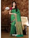 Groovy Dark Green Patola Silk Saree