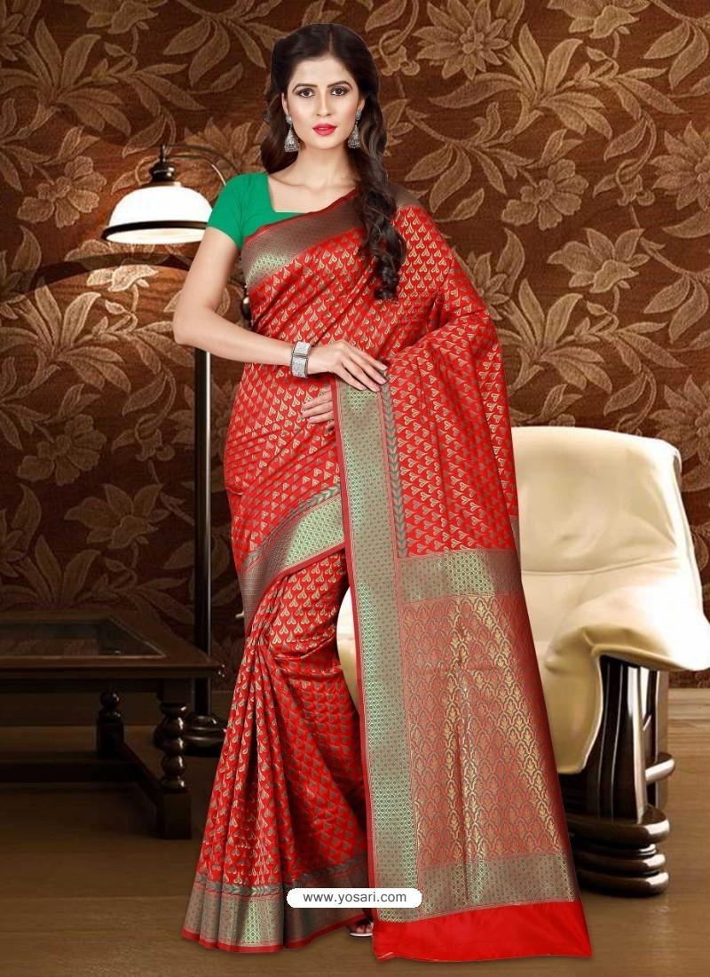 Magnificent Red Patola Silk Saree