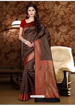 Modern Black Patola Silk Saree