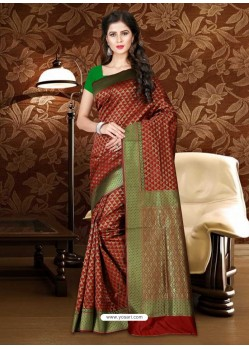 Fabulous Maroon Patola Silk Saree