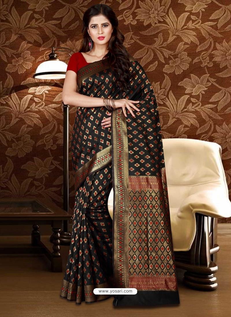 Excellent Black Patola Silk Saree