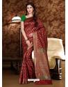 Phenomenal Maroon Patola Silk Saree