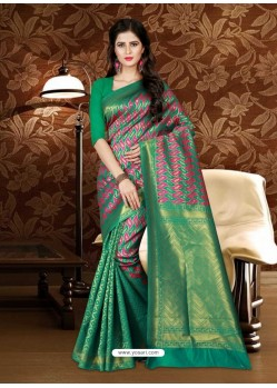 Impressive Green Patola Silk Saree