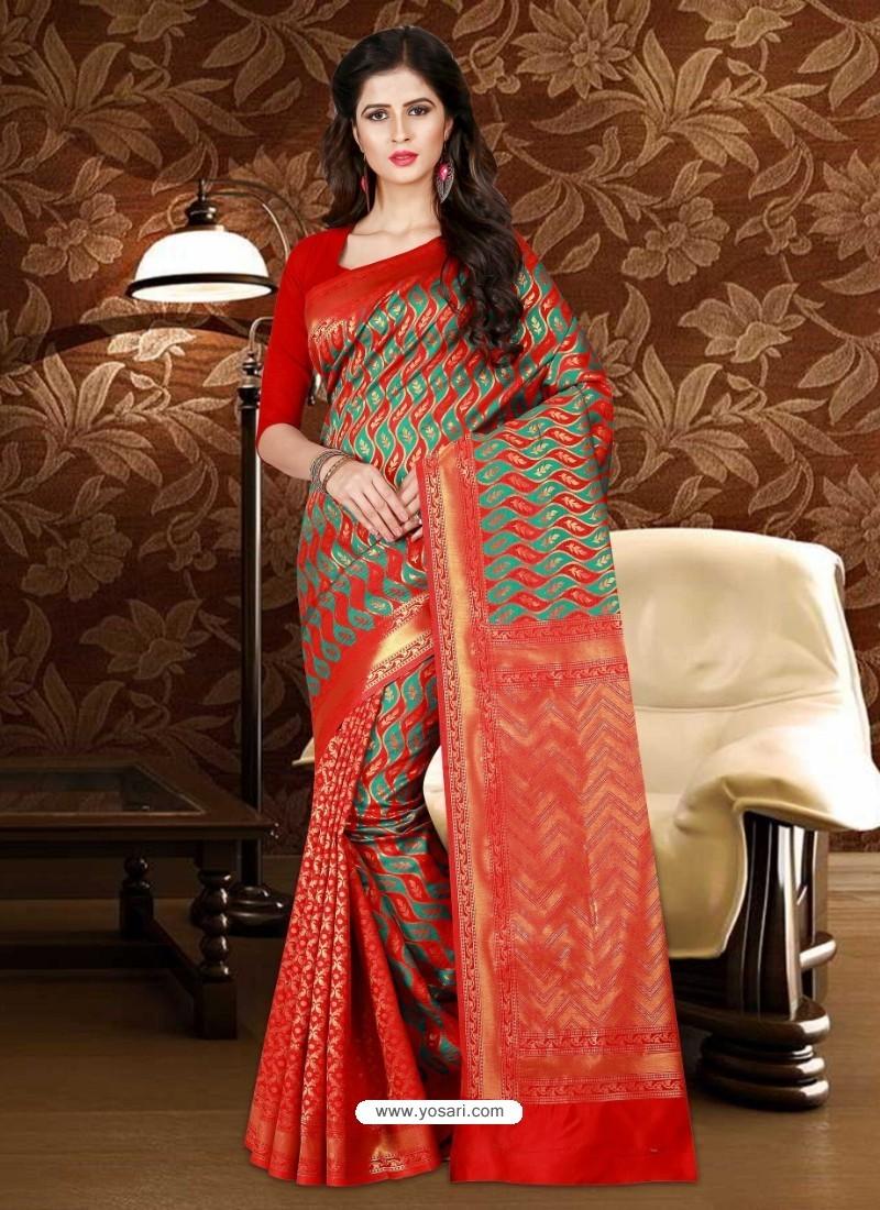 Phenomenal Red Patola Silk Saree