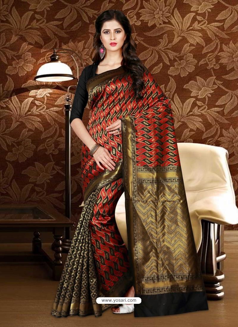 Markable Black Patola Silk Saree