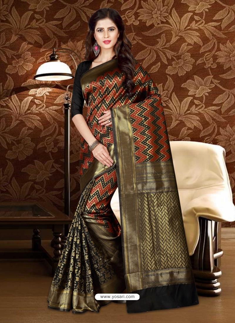 Affectionate Black Patola Silk Saree