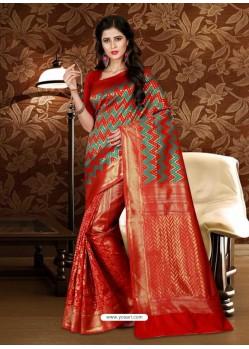 Perfect Red Patola Silk Saree