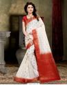 Desirable Off White Banarasi Silk Saree
