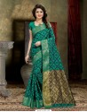 Perfect Teal Banarasi Silk Saree