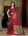 Fabulous Maroon Banarasi Silk Saree