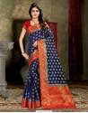 Excellent Navy Blue Banarasi Silk Saree