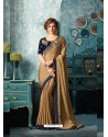 Splendid Camel Silk Chiffon Saree