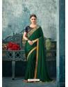 Glorious Dark Green Silk Saree