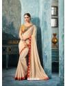 Competent Cream Silk Saree
