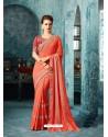 Marvelous Peach Silk Saree