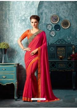 Incredible Crimson Silk Saree