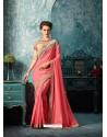 Mesmeric Peach Silk Saree