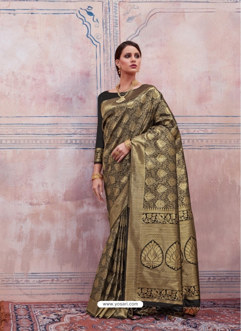Markable Golden Silk Saree