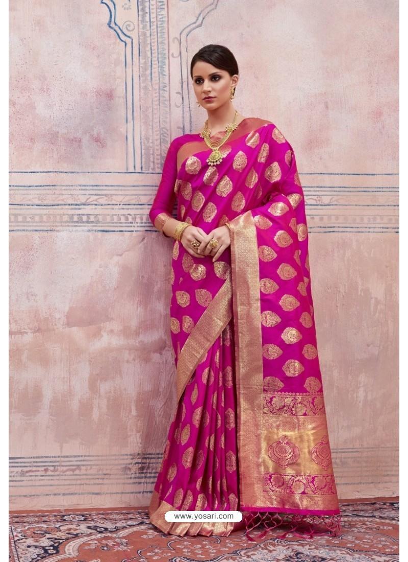 Exceptional Rani Silk Saree